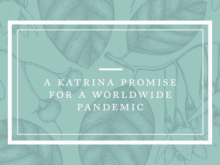 A Katrina Promise for a Worldwide Pandemic