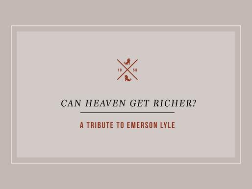 Can Heaven Get Richer?