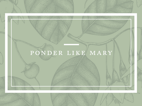 Ponder Like Mary