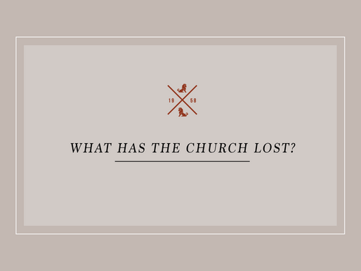 What has the church lost?