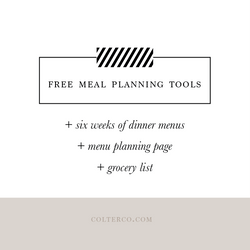 meal planning