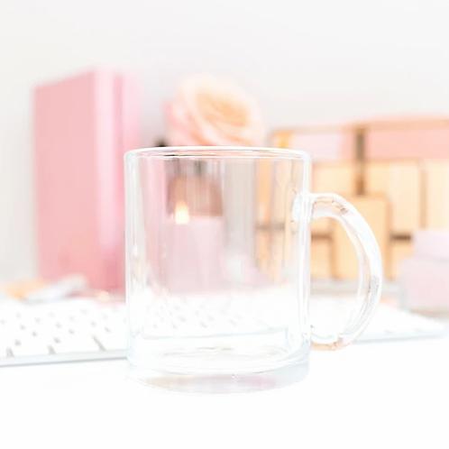"""be one."" - Glass Mug"
