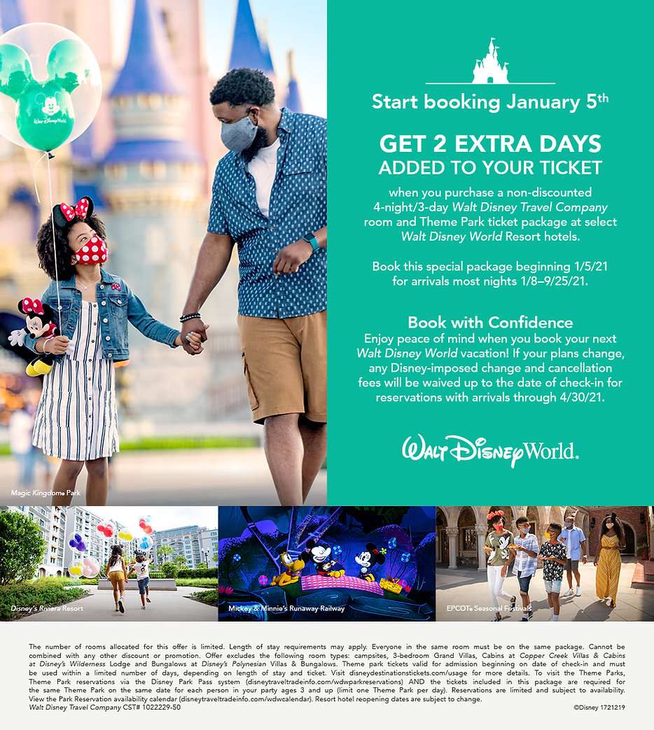 WDW_FY21_Peak Resort Package Offer_TAS_W