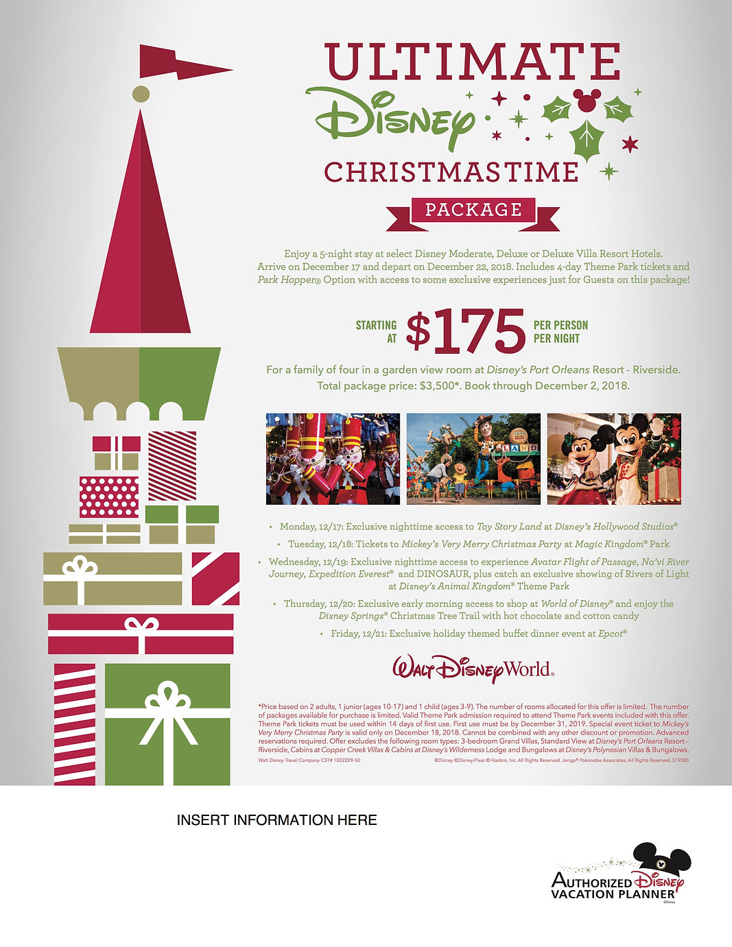 2018 Ultimate Disney Christmas Package -