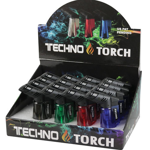 """Techno Torch Clear Torch - 3"""" / Asst Colors"""