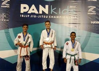 Guilherme conquista a medalha de prata no Pan Kids 2017