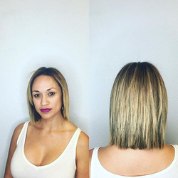 My #girl _immaculate.u got her #hair #done. We  did a #cute with #longlayers and #gktreatment #kerat