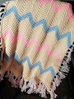 Stroller Blanket - Chevron Stitch