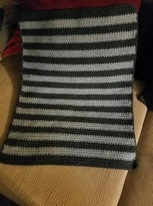 Stroller Blanket - Moss Stitch
