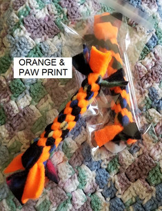 Orange & Paw Print