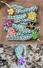 Aqua with Flowers