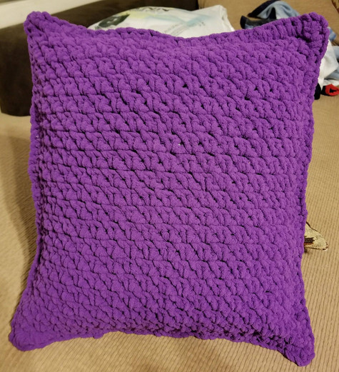 Pillow Cover - Moss Stitch
