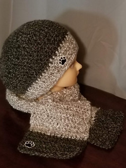 Medium Beanie & Medium Regular Scarf Set