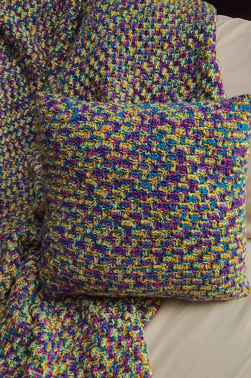 Throw Blanket and Pillow Cover