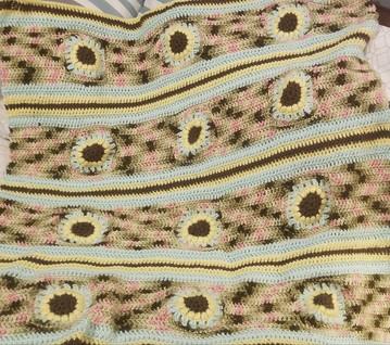 Stroller Blanket - Sunflower