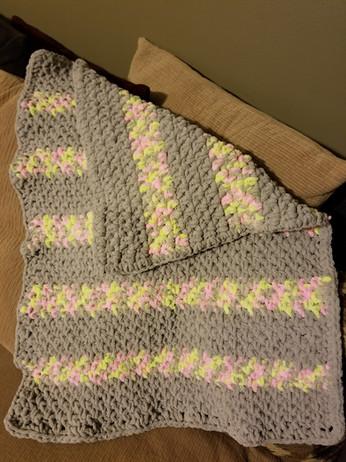 Baby Blanket - Moss Stitch