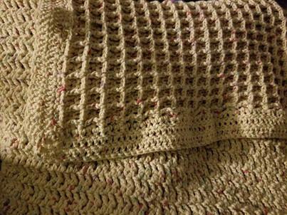 Stroller Blanket - Waffle Stitch