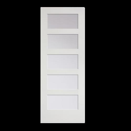 Primed MDF Interior French 5 Lite Equal (C55 w/ glazing)