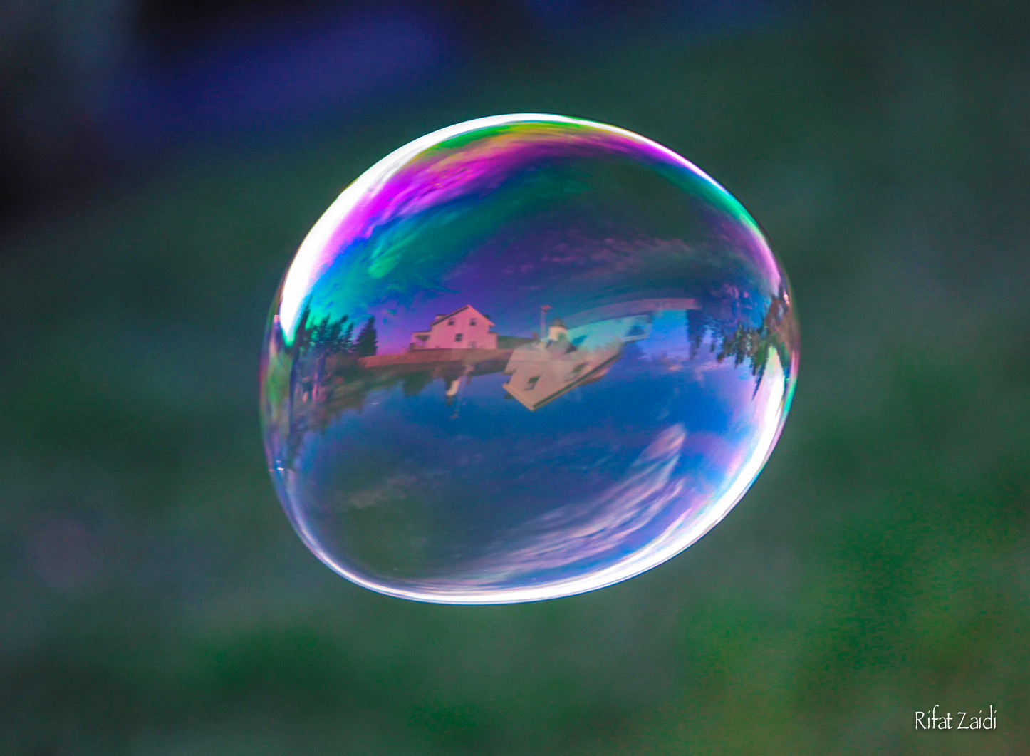 Lighthouse in a bubble