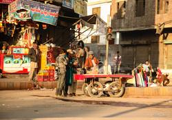Street scene,Old city, Lahore,1