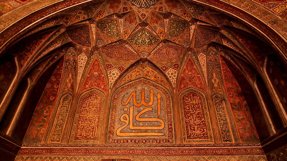 Ceiling Masjid Wazir Khan