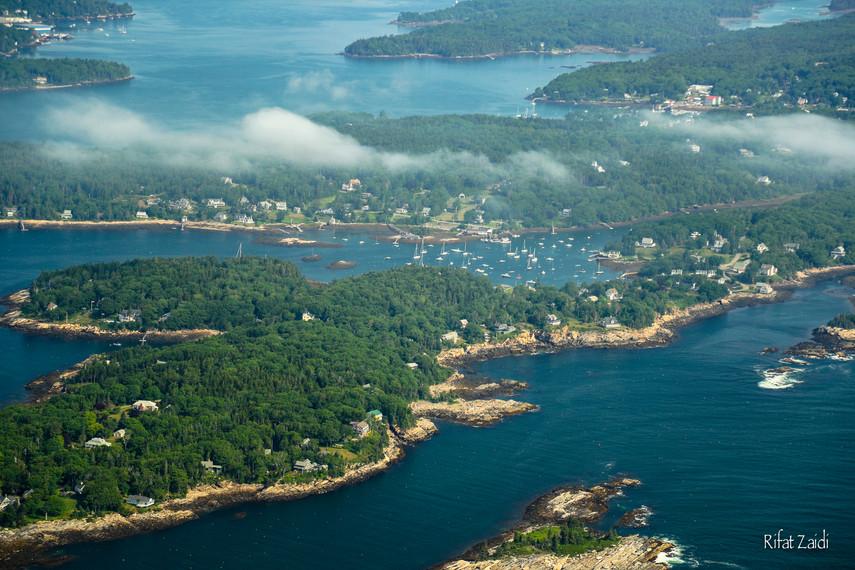 Maine coast from the sky