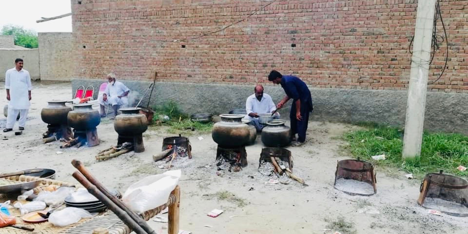 Cooking for the village