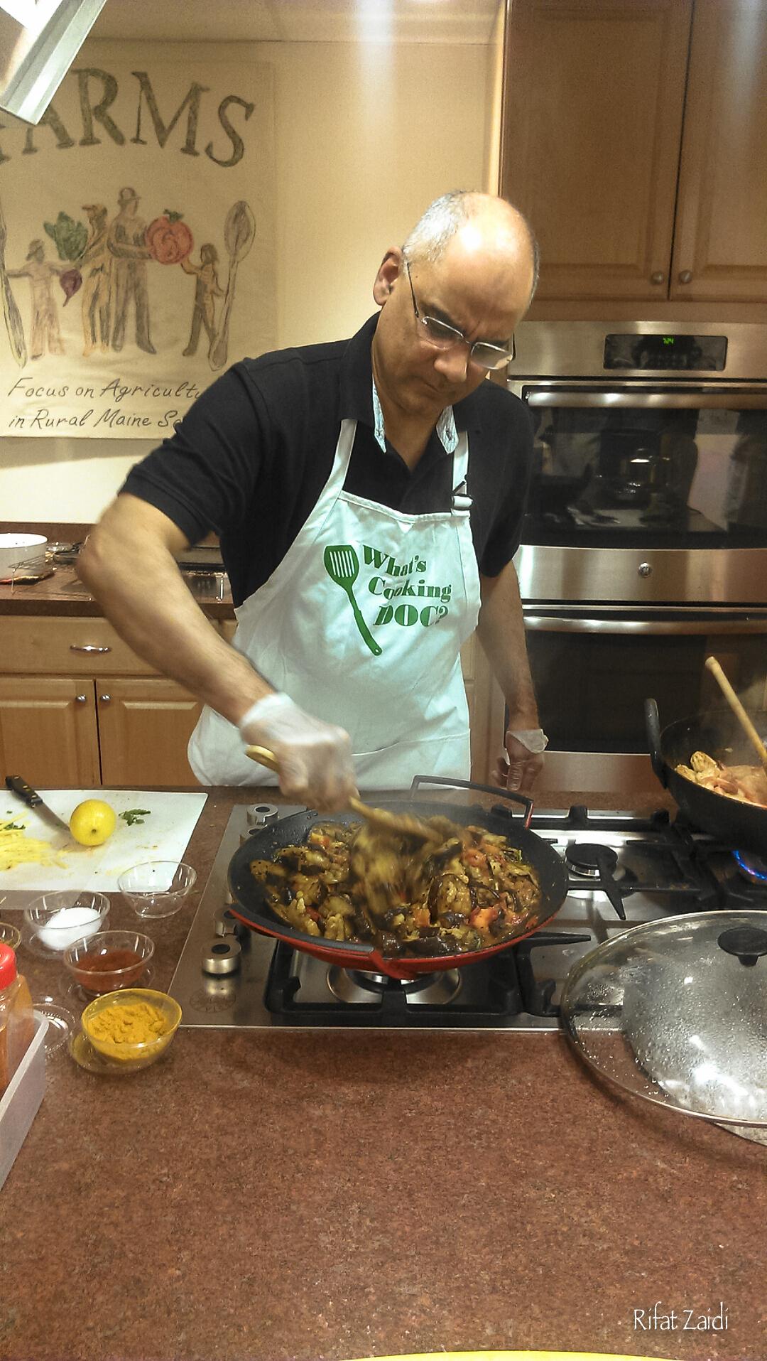 A Good Stir to the shrimp Karahi