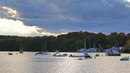 Boats On Damariscotta River