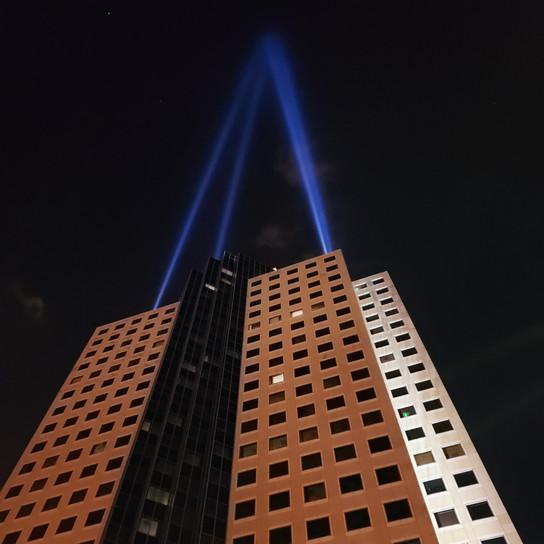 High rise at night