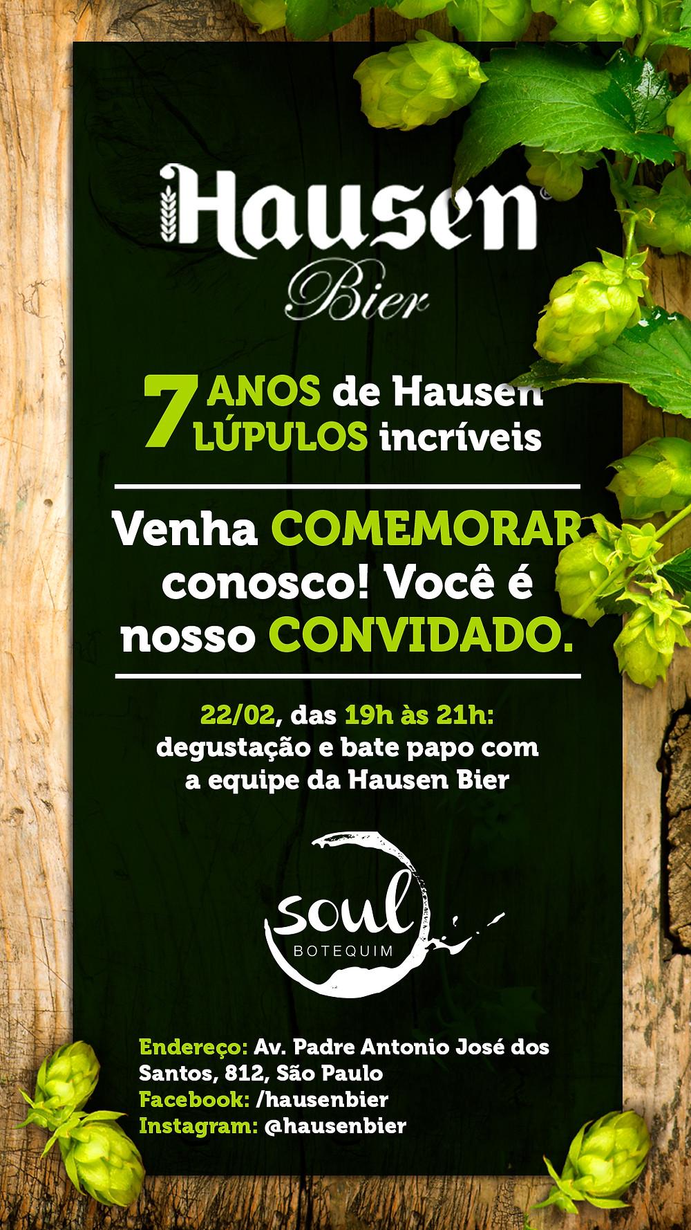 Lançamento cerveja Hausen 7 lupulos