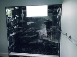 Large Frameless Glass Enclosure