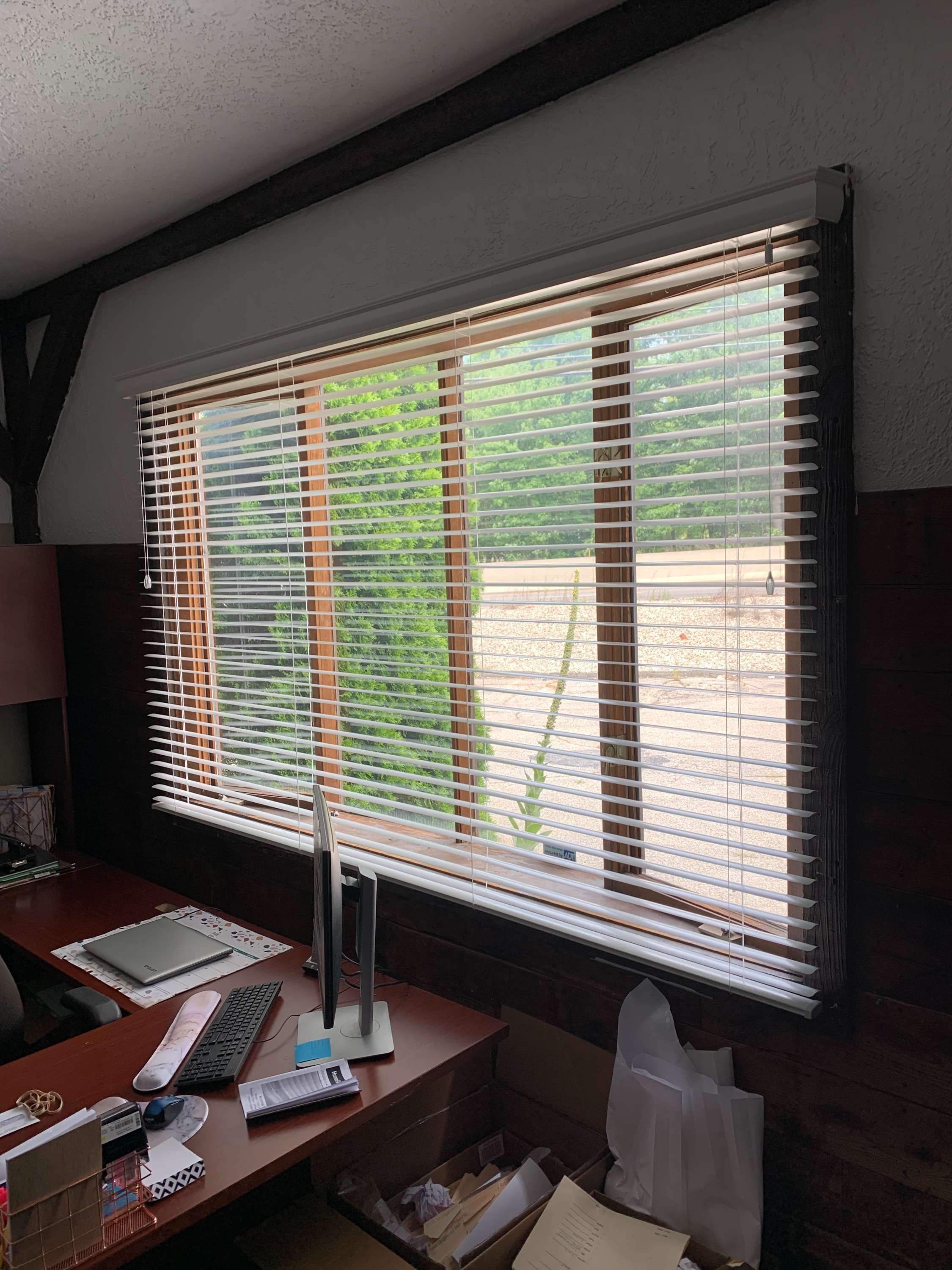 Aluminum Blinds in Office
