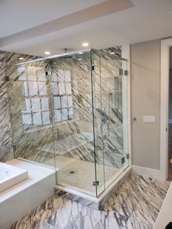 Frameless Shower Enclosure with Header