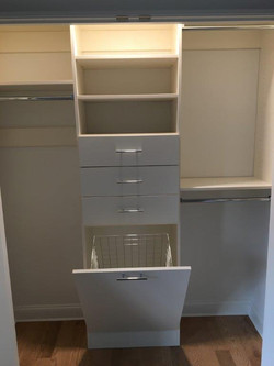Bisque Hamper & Drawers Above