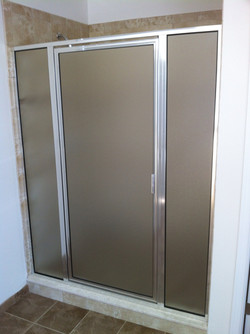 Framed Stall Door & 2 Panels, Obscure Glass