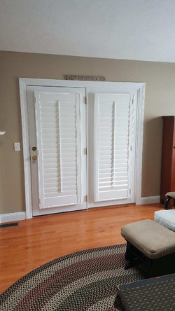 French Door Shutters Closed