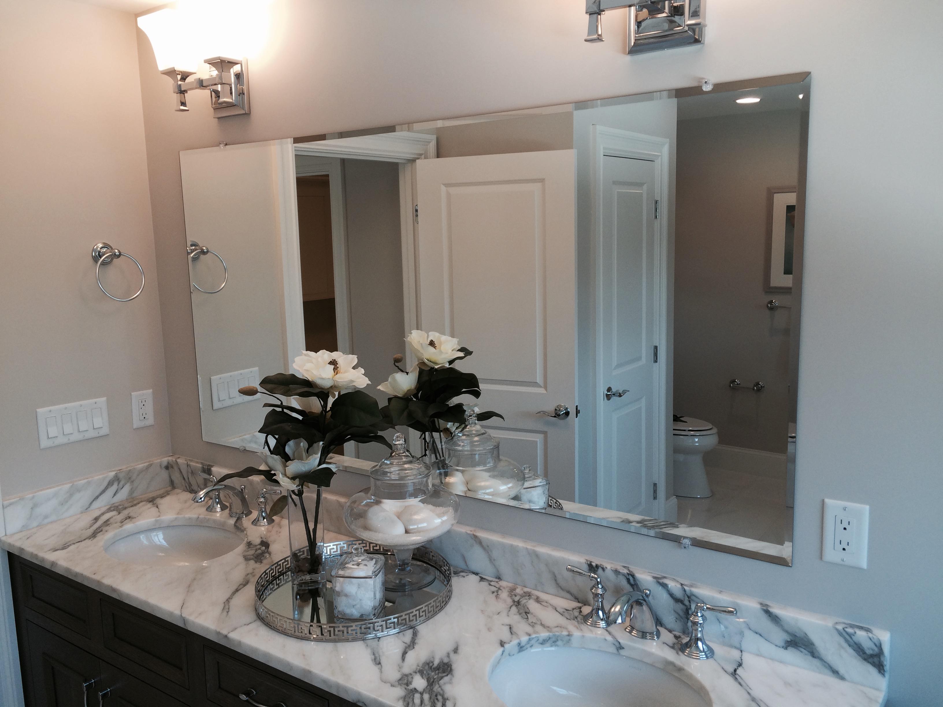 Beveled Over Double Sink Vanity