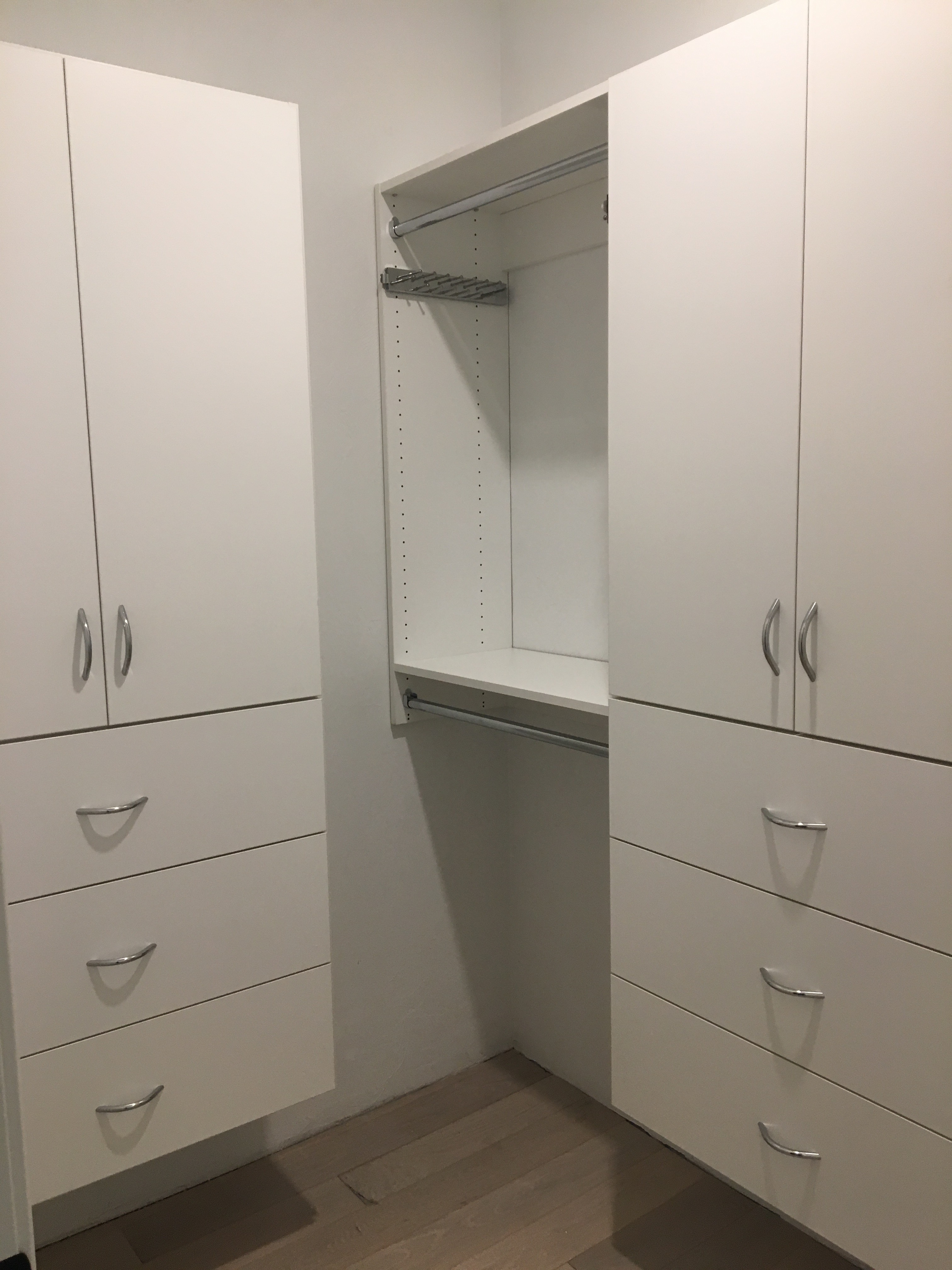 White Classica Flat Face Cabinets