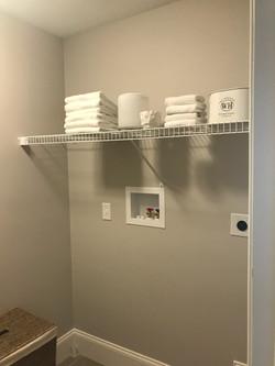 Linen Shelf above Laundry