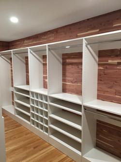 White Classica in Cedar Closet