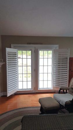 French Door Shutters Open