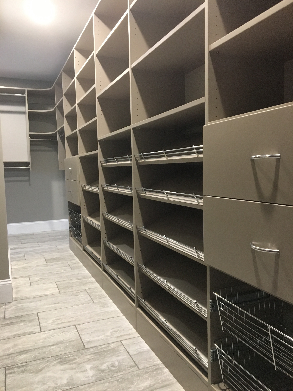 Century Grey Walk-in Closet