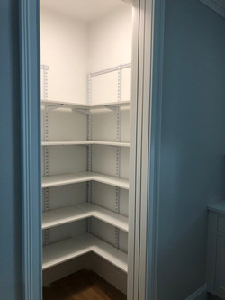 White Freedom Rail Shelving in Pantry