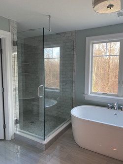 Frameless Door and Return Panel With Ceiling Support