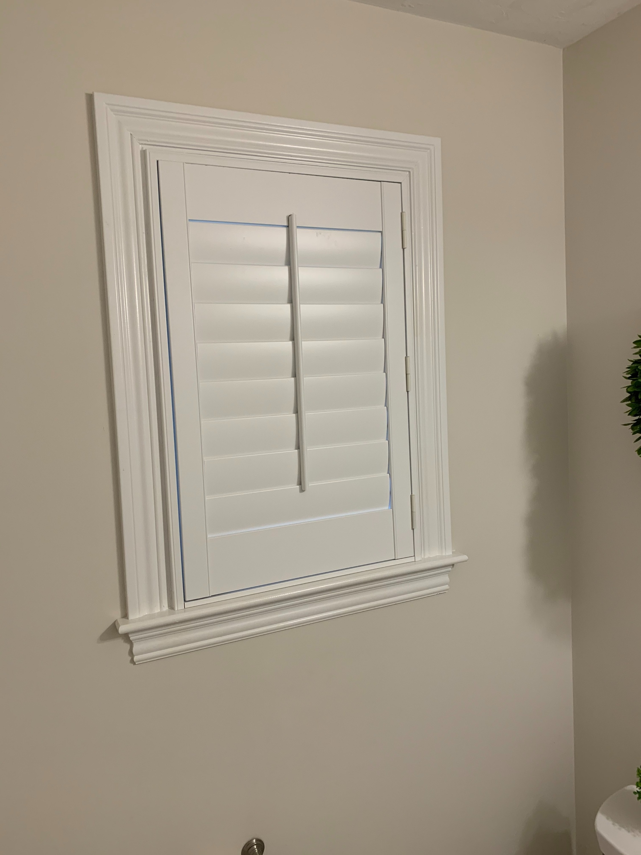 Shutter in Powder Room
