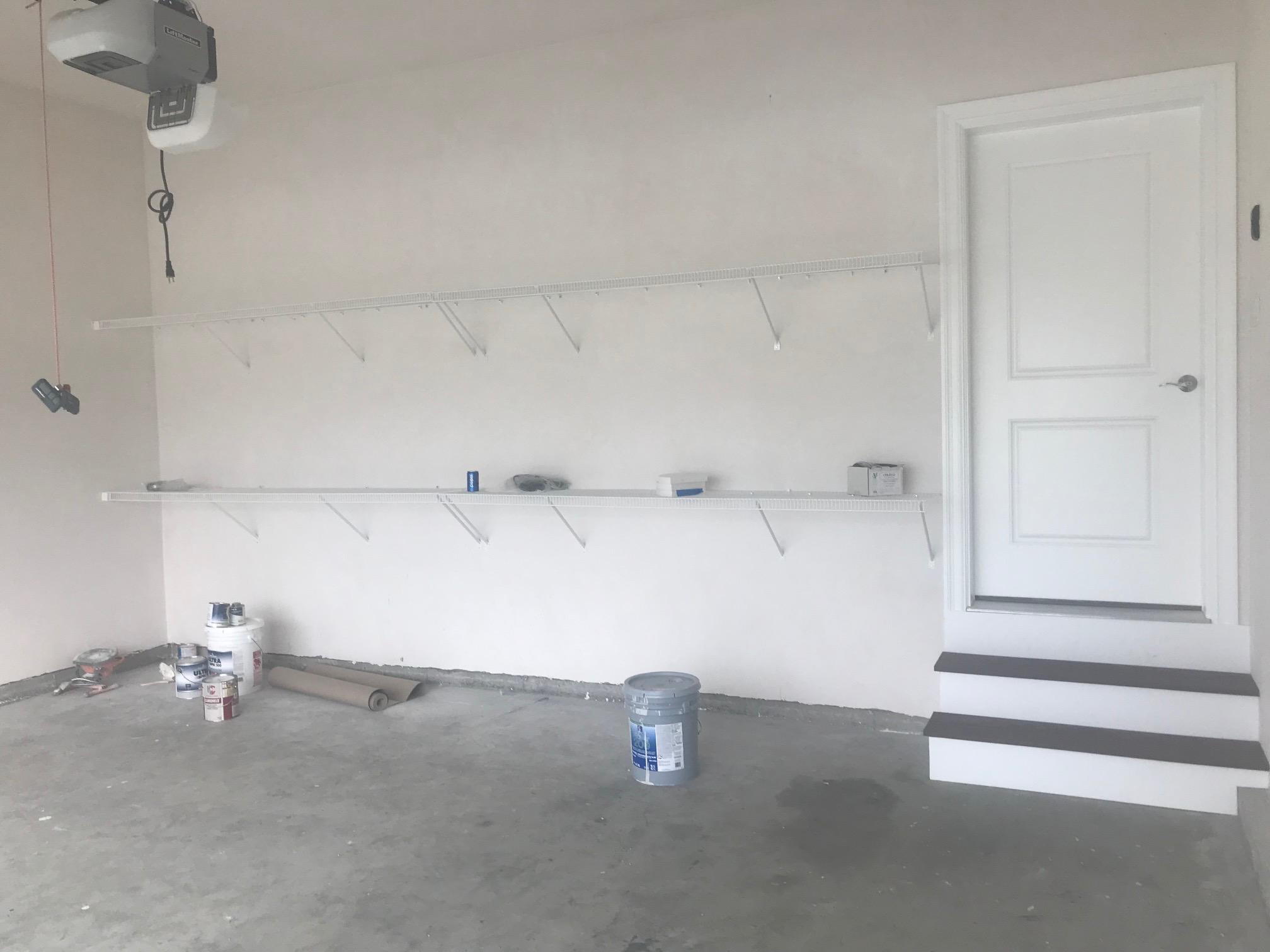 Wire Shelving in Garage