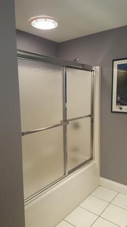 Framed Slider with Textured Glass