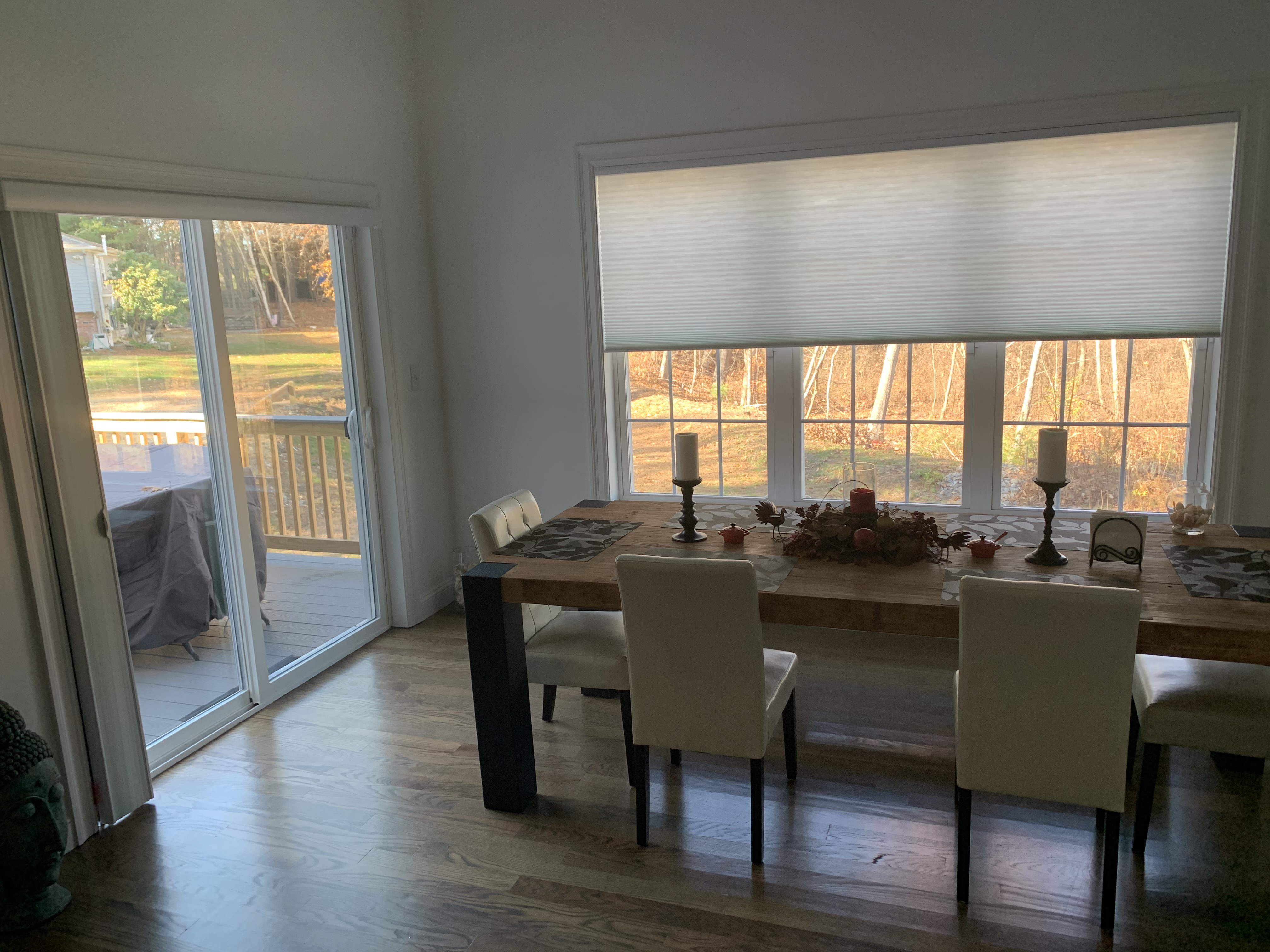 Vertiglide and Large Shade in Dining Room