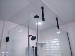 Frameless Matte Black Ceiling Supports